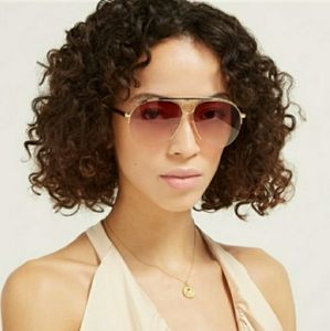 New Chloe 59MM Round Sunglasses  In Rose Gold